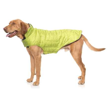 RC Pet Products Skyline Dog Puffy Vest - Medium in Lime/Charcoal - Closeouts