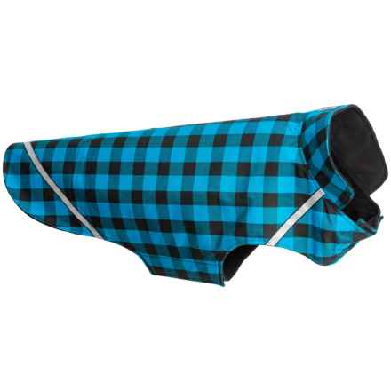 RC Pet Products West Coast Dog Rain Jacket- Large in Blue Buffalo Plaid - Closeouts