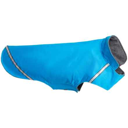 RC Pet Products West Coast Dog Rain Jacket- Large in Cyan - Closeouts