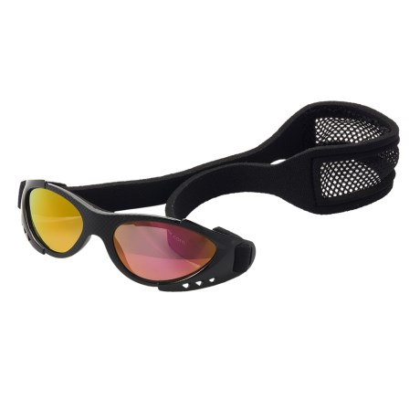 Real Kids Shades Xtreme Sports Sunglasses - 3-7 Years (For Kids) in Black/Black