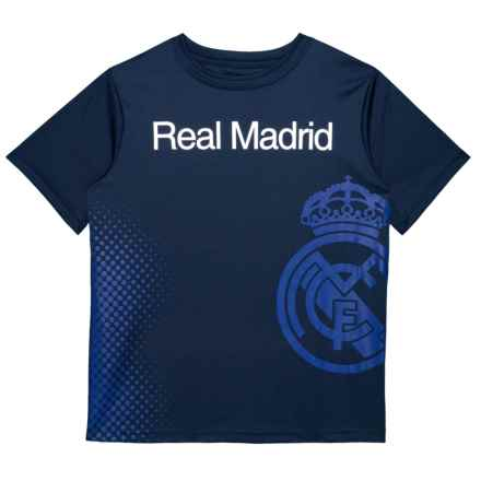 Real Madrid Faded Logo T-Shirt - Long Sleeve (For Big Boys) in Navy - Closeouts
