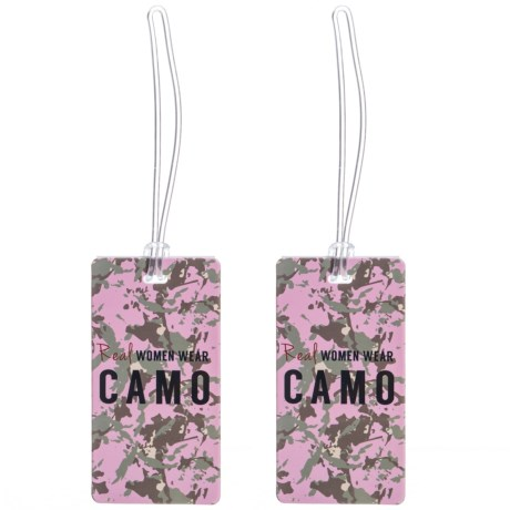Real Women Wear Camo Luggage Tag Set - 2-Piece
