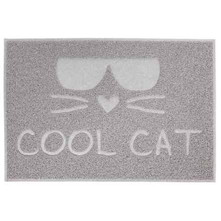 """RealSimple Cat Litter Trapper """"Cool Cat"""" Mat - 24x16"""" in Gray - Closeouts"""
