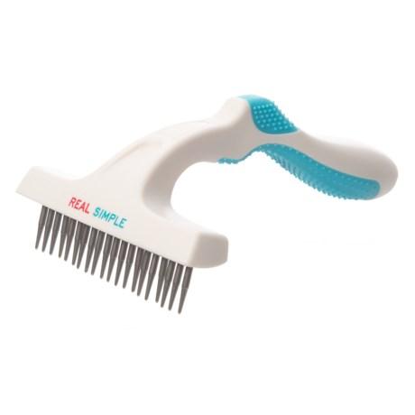 RealSimple Single Rake Pet Comb in Blue