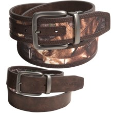 Realtree 40mm Realtree Stitch Reversible Belt (For Men) in Realtree Xtra R/Brown - Closeouts