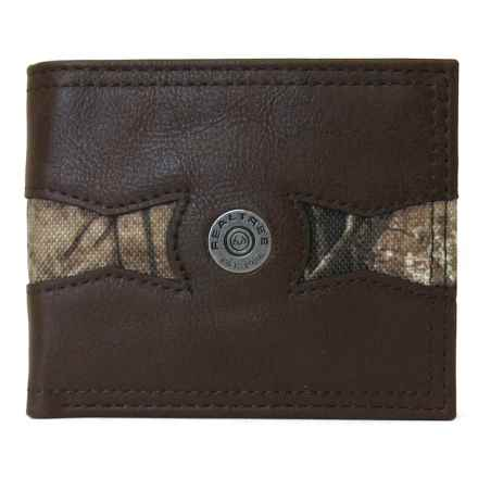 Realtree Burnished Edge Passcase Wallet with Insert - Leather (For Men) in Brown - Closeouts