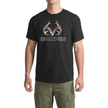 Realtree Camo Logo T-Shirt - Short Sleeve (For Men) in Black Realtree Xtra - Closeouts