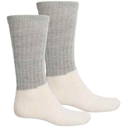 Realtree Classic Heavyweight Boot Socks -2-Pack, Wool Blend, Crew (For Men) in Gray/Natural - Closeouts