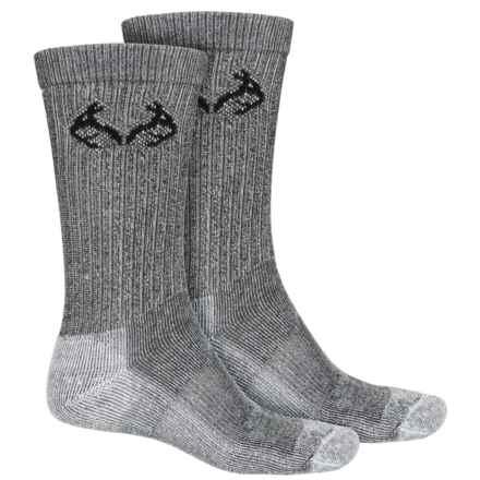 Realtree CoolMax® Hunting Socks - 2-Pack, Crew (For Men) in Den/Black - Overstock