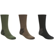 Realtree Crew Socks - 3-Pack (For Men) in Black/Brown/Olive - Closeouts