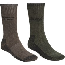 Realtree Heavyweight Socks - 2-Pack, Crew (For Men) in Olive/Brown - Closeouts
