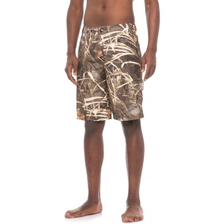 Realtree Max-4® Basic Volley Boardshorts (For Men) in Brown