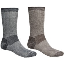 Realtree® Merino Wool Blend Socks - 2-Pack, Crew (For Men) in Brown/Black - Closeouts