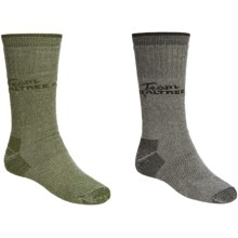 Realtree Moisture-Wicking Socks - 2-Pack, Medium Cushion, Crew (For Men) in Black/Olive - Closeouts
