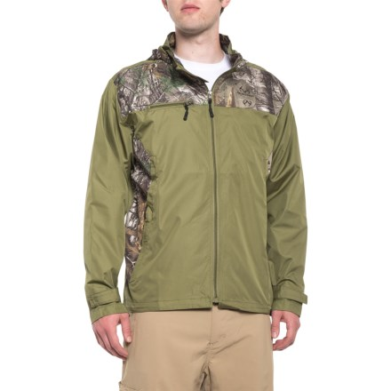 b39ec5bb95849 Realtree Olive Camo Windbreaker Jacket - Hooded (For Men) in Olive - 2nds