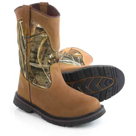 Realtree Outfitters Montana 2 Boots - Leather (For Men) in Realtree Max5 - Closeouts