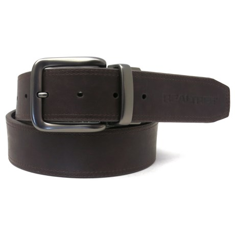 Realtree Stitch Camo Inlay Belt - Reversible (For Men) in Brown