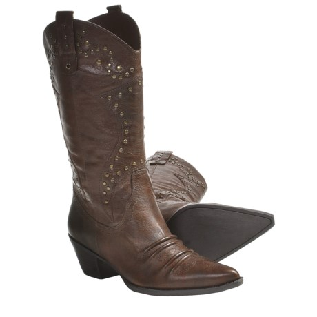 Reba OK Boots - Leather (For Women) in Dark Tan