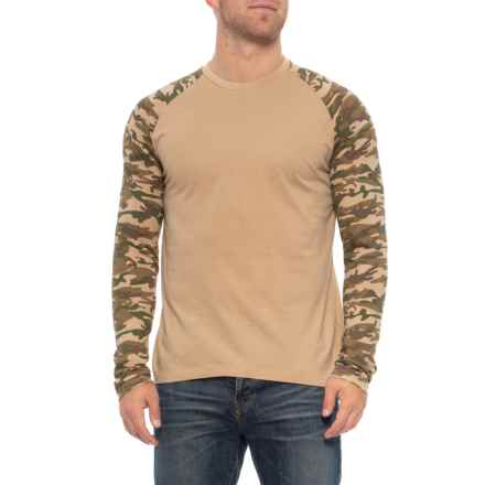 Rebel James & Charli Camo Raglan T-Shirt - Long Sleeve (For Men) in Dune (Tan) - Closeouts