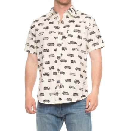 Rebel James & Charli Printed Button-Down Shirt - Short Sleeve (For Men) in Vans/Ivory - Overstock