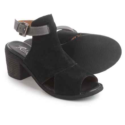 Rebels Backless Sandals - Suede (For Women) in Black - Closeouts