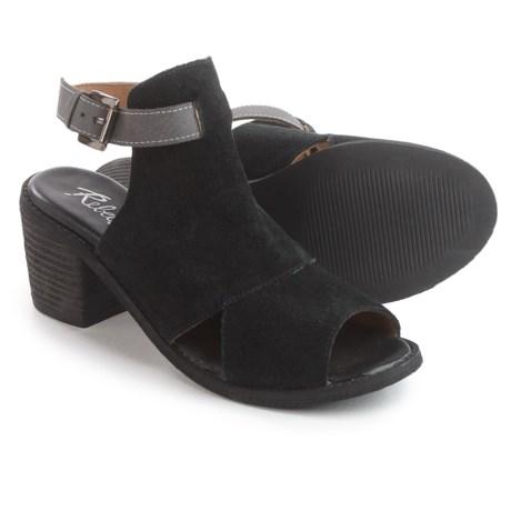 Rebels Backless Sandals - Suede (For Women) in Black