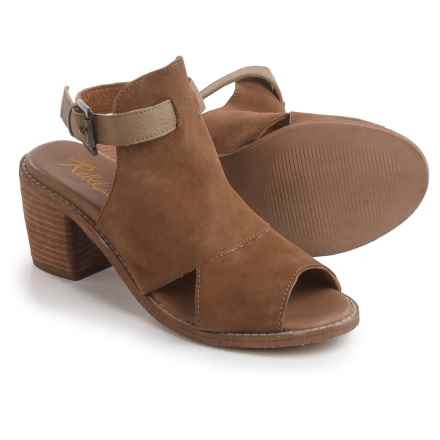 Rebels Backless Sandals - Suede (For Women) in Taupe - Closeouts