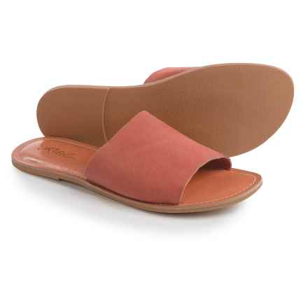 Rebels Bettye Suede Slides (For Women) in Coral - Closeouts