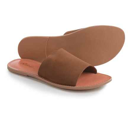 Rebels Bettye Suede Slides (For Women) in Tan - Closeouts