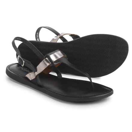 Rebels Joan Sandals - Leather (For Women) in Pewter - Closeouts
