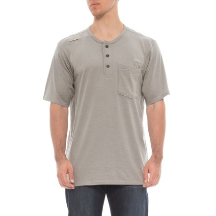 f384de20 Red Kap Double-Pocket Henley Shirt - Short Sleeve (For Men) in Slate