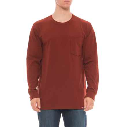 Red Kap Double-Pocket T-Shirt - Long Sleeve (For Men) in Brick Red - Closeouts