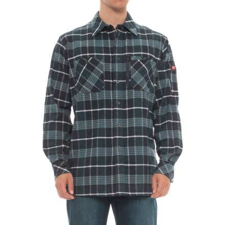 03ad9afc77 Red Kap Flannel Work Shirt - Long Sleeve (For Men) in Blue Plaid -