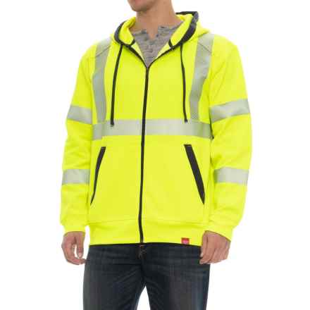 Red Kap Reflective High-Visibility Hoodie (For Men) in Safety Yellow - Closeouts