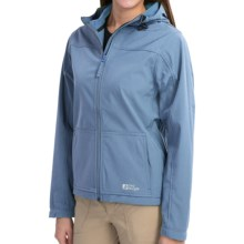 Red Ledge Gauntlet Hooded Soft Shell Jacket - Waterproof (For Women) in New Sky - Closeouts