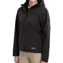Red Ledge Gauntlet Hooded Soft Shell Jacket - Waterproof (For Women) in Obsidian - Closeouts