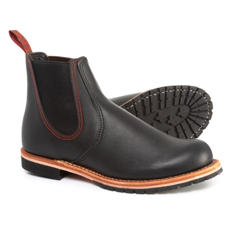 Red Wing 2917 Chelsea Rancher Boots - Factory 2nds (For Men) in Black