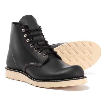 "Red Wing Classic Round Toe Boots - Leather, 6"", Factory Seconds (For Men) in Black Chrome"