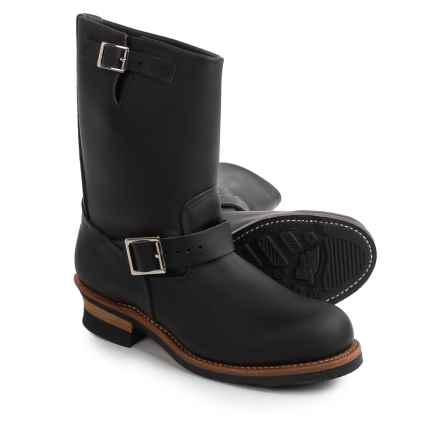 """Red Wing Heritage 2268 11"""" Engineer Boots- Leather, Factory 2nds (For Men) in Black - 2nds"""