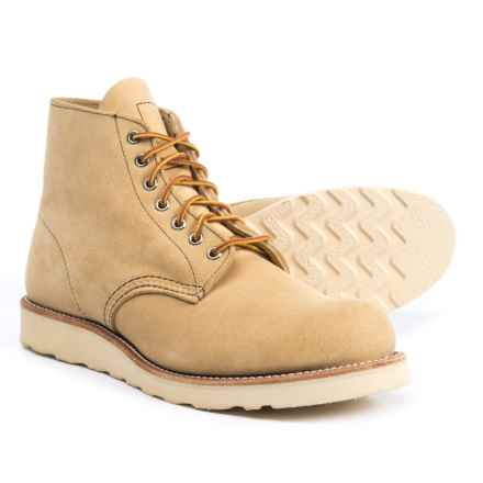 "Red Wing Heritage 6"" Classic Work Boots - Suede, Factory 2nds (For Men) in Tan Rough Out - Closeouts"