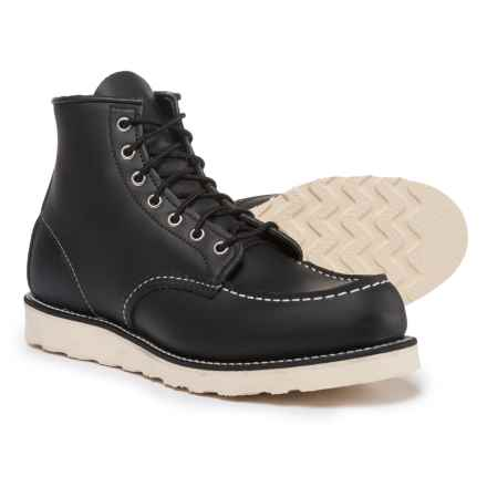 Red Wing Heritage 8130 Classic Moc Boots - Leather, Factory Seconds (For Men) in Black - 2nds