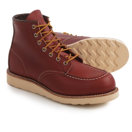 "Red Wing Heritage 8131 6"" Classic Moc Boots - Leather, Factory 2nds (For Men) in Oro Russet"