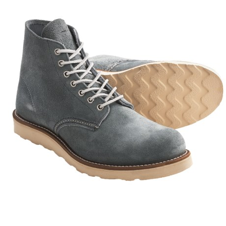 """Red Wing Heritage 8144 Classic 6"""" Boots - Round Toe, Factory 2nds (For Men) in Slate Blue"""