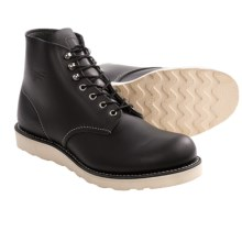 "Red Wing Heritage 8165 6"" Round Toe Boots - Factory 2nds (For Men) in Black - Closeouts"