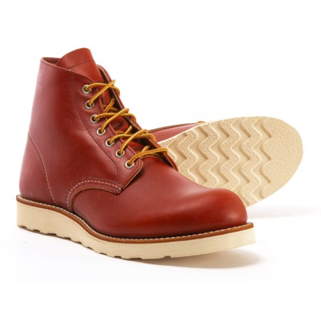"""Red Wing Heritage 8166 6"""" Round-Toe Boots- Leather, Factory 2nds (For Men) in Brown"""