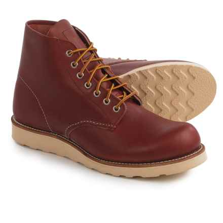 "Red Wing Heritage 8166 6"" Round-Toe Boots- Leather, Factory 2nds (For Men) in Oro Russet - 2nds"