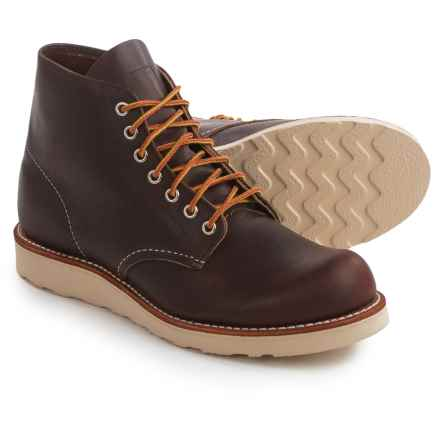 "Red Wing Heritage 8196 Classic 6"" Round-Toe Boots - Leather, Factory 2nds (For Men) in Briar - 2nds"