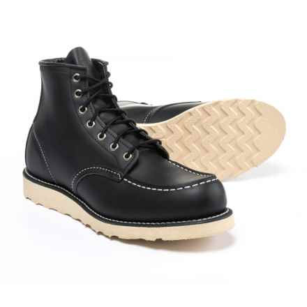 """Red Wing Heritage Classic Moc Toe Boots - Leather, 6"""", Factory Seconds (For Men) in Black - 2nds"""