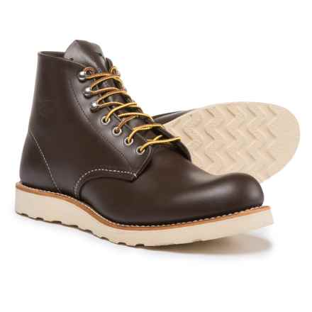 "Red Wing Heritage Classic Round Toe Boots - Leather, 6"", Factory Seconds (For Men) in Chocolate Chrome - 2nds"