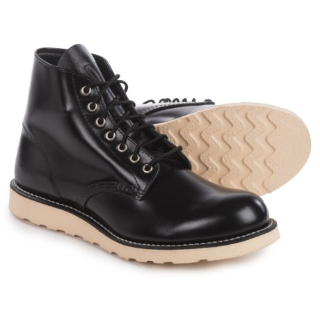 Red Wing Heritage Classic Round-Toe Boots - Leather, Factory 2nds (For Men) in Black